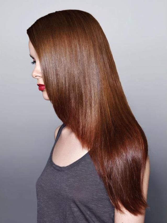 Фото причесок с каштановым цветом волос