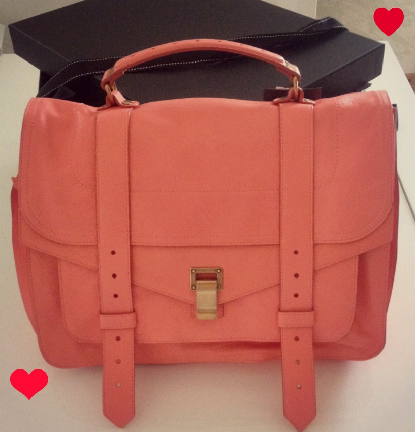 PS1 CORAL New in: PS1 neon coral satchel by Proenza Schouler
