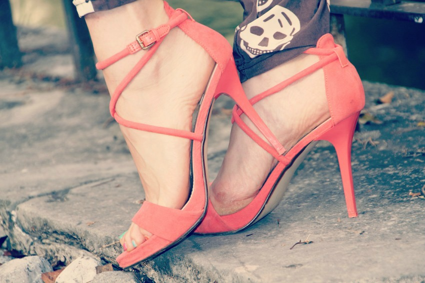 ZARA CORAL SANDALS1 Skulls are in my heart