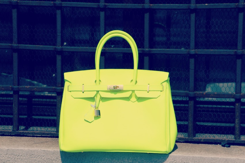 BORSA NEON Neon and denim