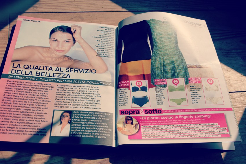 GLAMOUR AGOSTO PAGINA Press update: me on Glamour magazine!