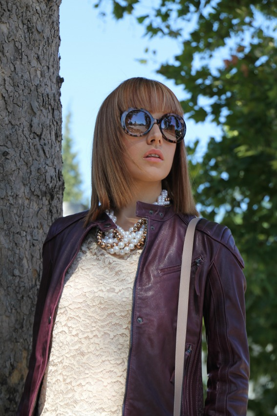 alessia milanese,thechilicool,fashion blog,fashion blogger, ice iceberg leather jacket, alexa mulberry bag