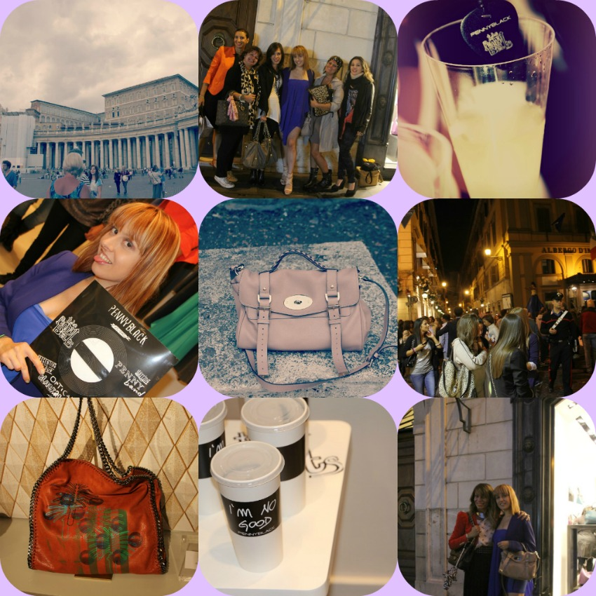 alessia milanese,thechilicool,fashion blog,fashion blogger, bits of my vfno in rome, alexa mulberry, falabella stella mc cartney , san pietro,  pennyblack, vogue fashion's night out
