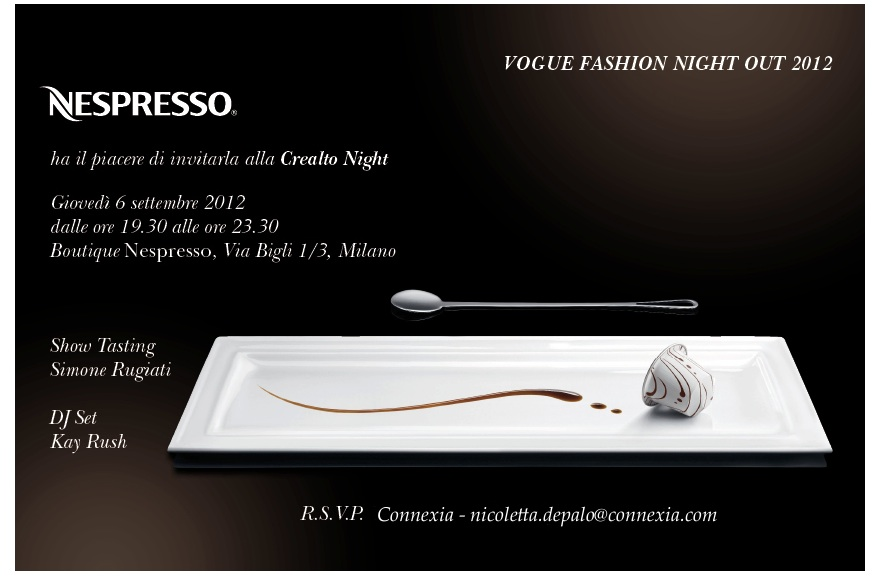 nespresso invito Vogue Fashions Night Out in Milan   recap