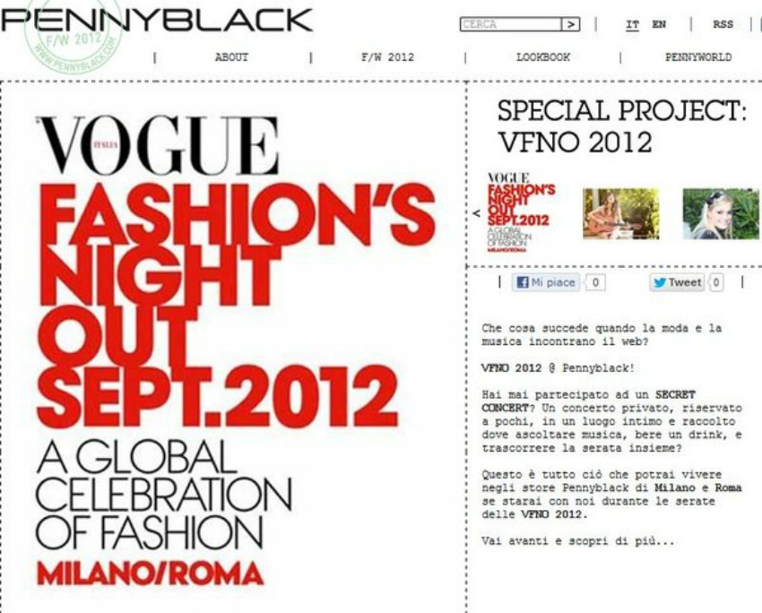 pennyblackvfno anteprima 600x483 751150 Vogue Fashions Night Out in Milan   recap