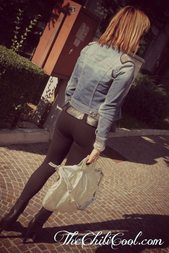 OUTFIT RETRO2 Denim and black