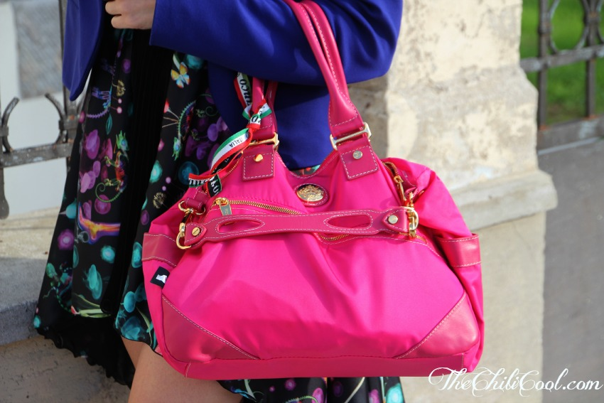 alessia milanese,thechilicool,fashion blog,fashion blogger,hefty dress femininity in a kaleidoscope of colors, orobianco bag