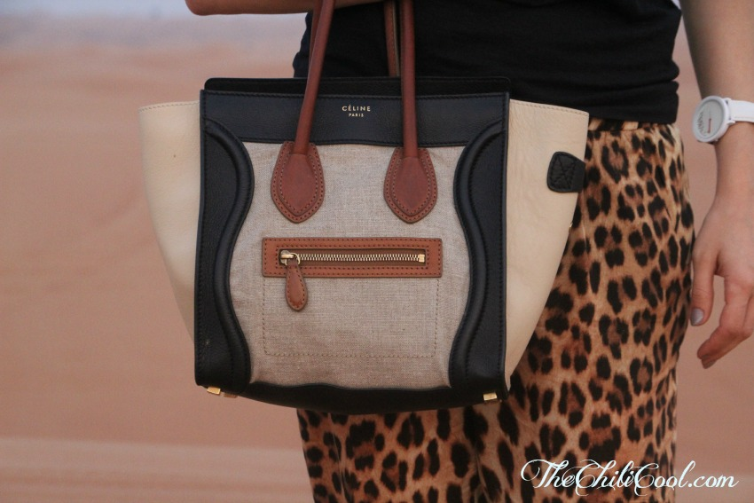 alessia milanese,thechilicool,fashion blog,fashion blogger, dubai day 3 a ride in the desert, celine bag