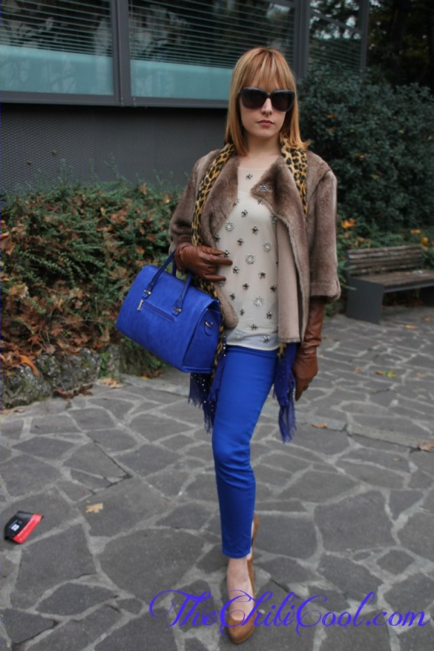 alessia milanese, thechilicool,fashion blog,fashion blogger,gli opposti si attraggono cammello e blu elettrico