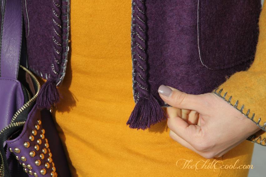 alessia milanese,thechilicool,fashion blog, fashion blogger, viola e mostarda un turbinio di colori con de'hart