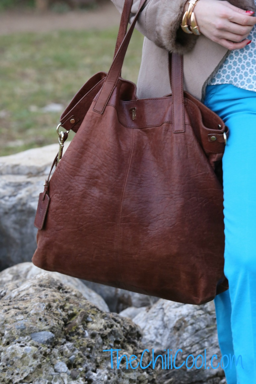 alessia milanese, thechilicool, fashion blog, fashion blogger, back to the '70s con un tocco di turchese, trussardi bag,  lita jeffrey cambell