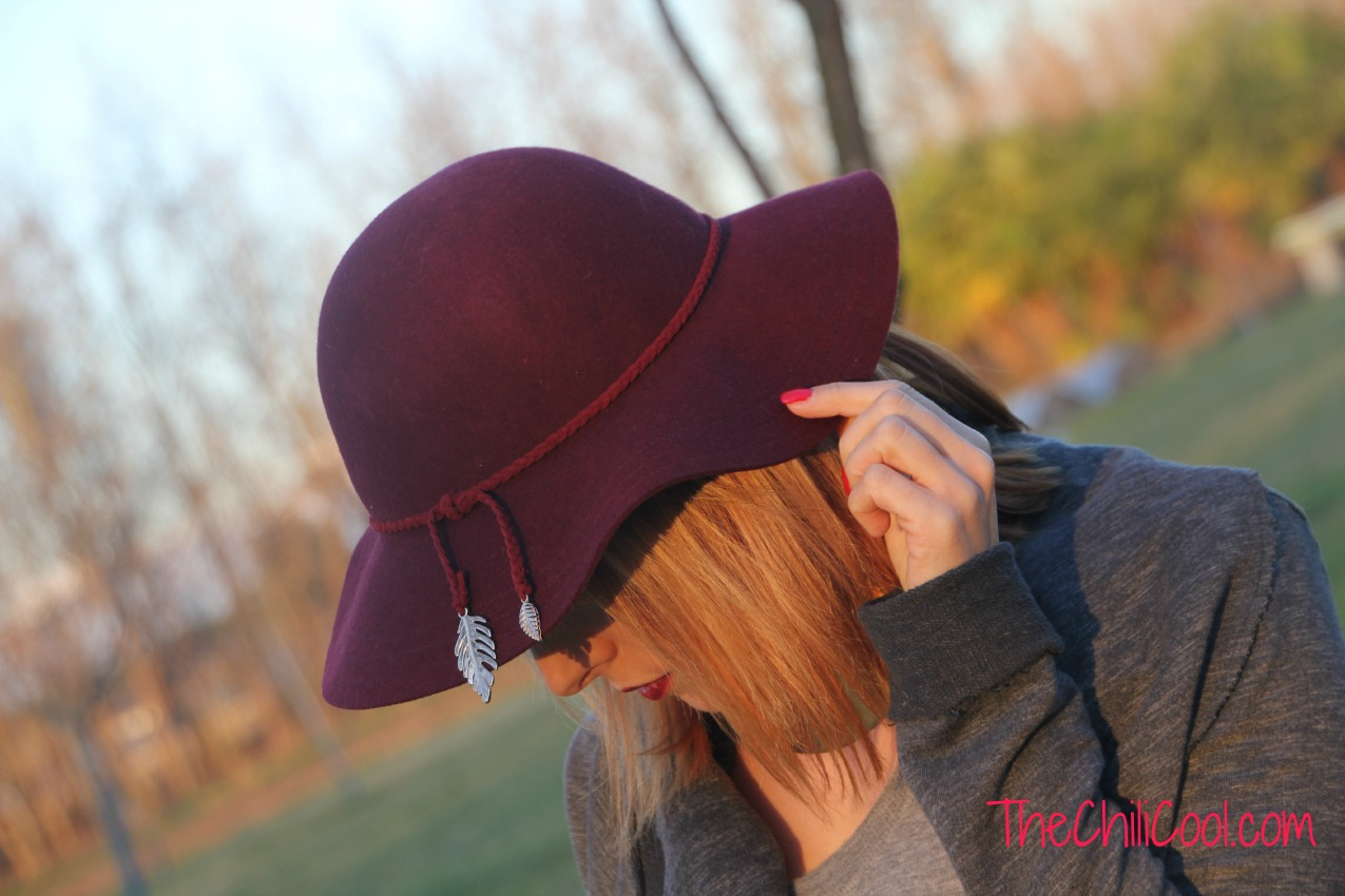 alessia milanese,thechilicool,fashion blog,fashion blogger, armonia tra burgundy e grigio, le pandorine bag