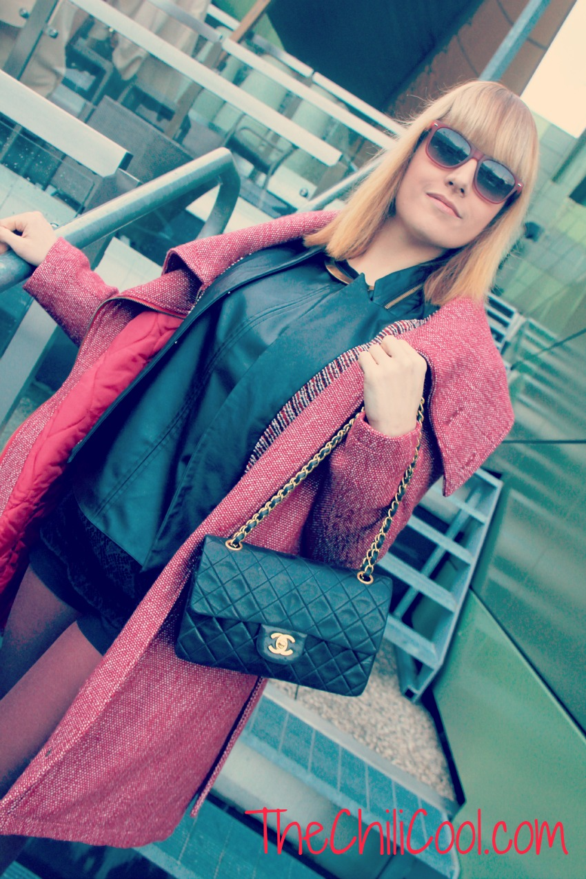 alessia milanese, thechilicool, fashion blog, fashion blogger, red touch e pelle nera, chanel 2.55, gucci shoes