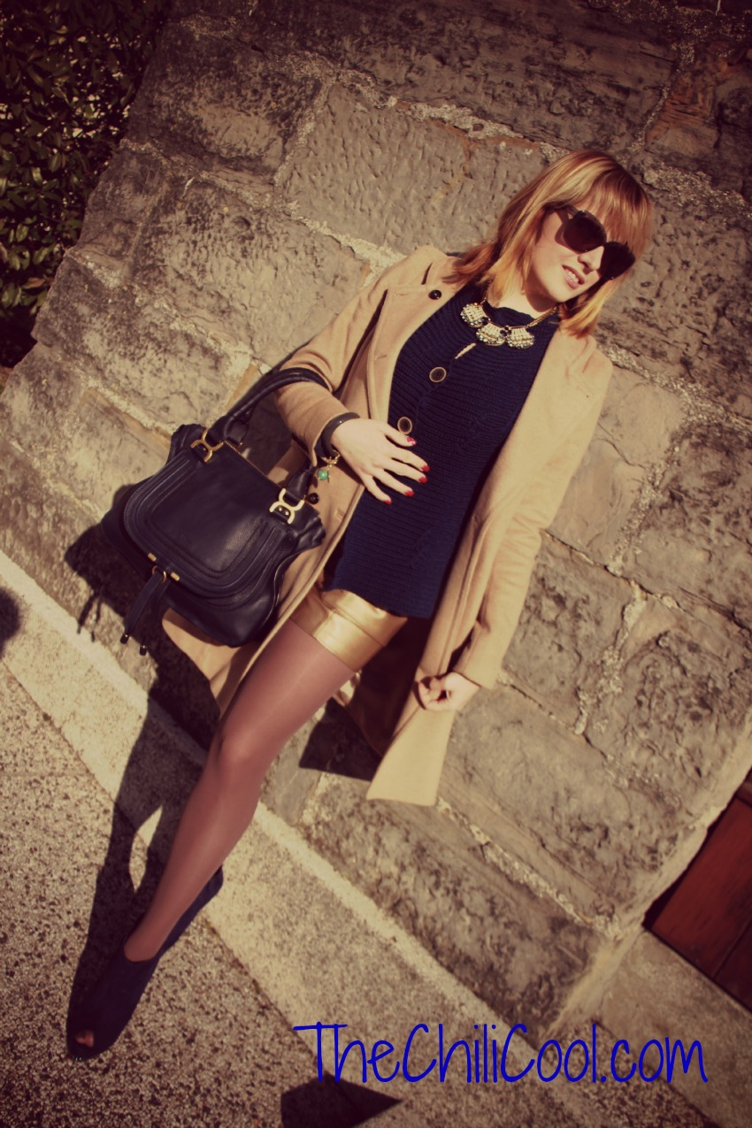 alessia milanese,thechilicool,fashion blog, fashion blogger, blu che si fonde nell'oro, marcie bag chloè