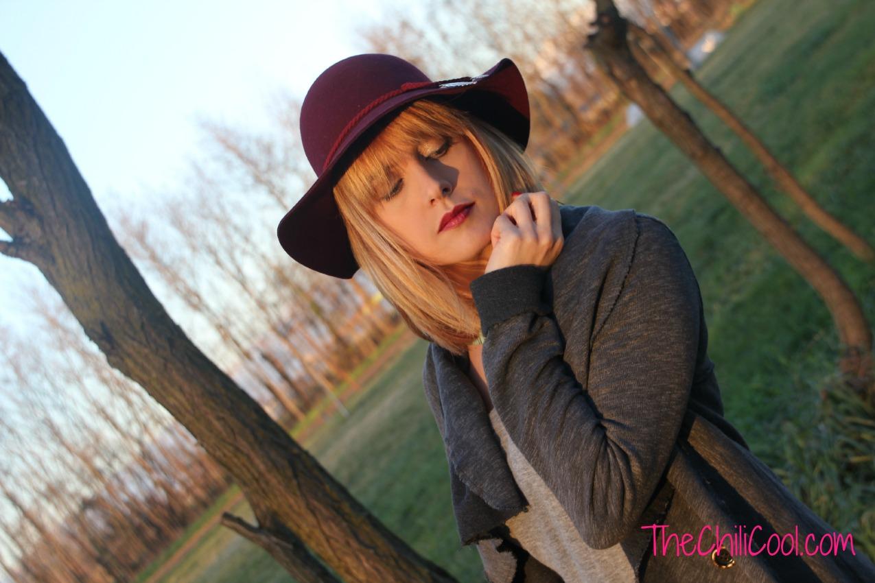 alessia milanese,thechilicool,fashion blog,fashion blogger, armonia tra burgundy e grigio