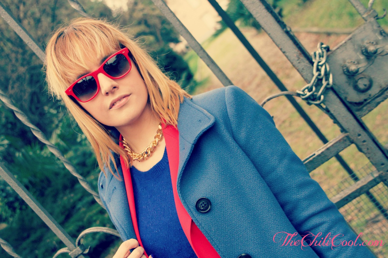 alessia milanese, thechilicool, fashion blog, fashion blogger,rosso e blu per un tranquillo martedì di fine gennaio, givenchy bag