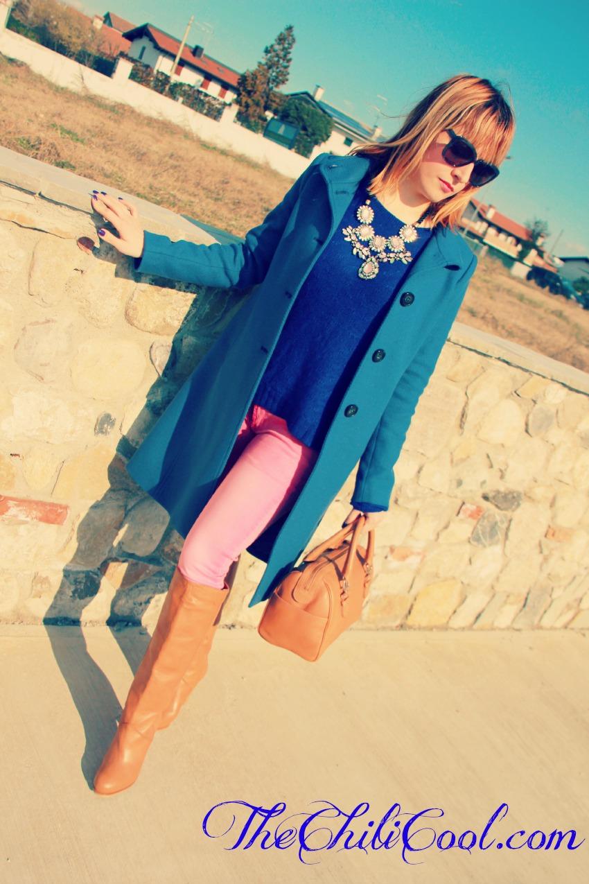 alessia milanese, thechilicool, fashion blog, fashion blogger, un tuffo nel blu, cappotto pennyblack