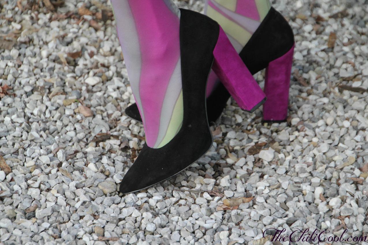alessia milanese, thechilicool, fashion blog, fashion blogger,soffio di primavera con un cappottino viola, borsa rockstud valentino