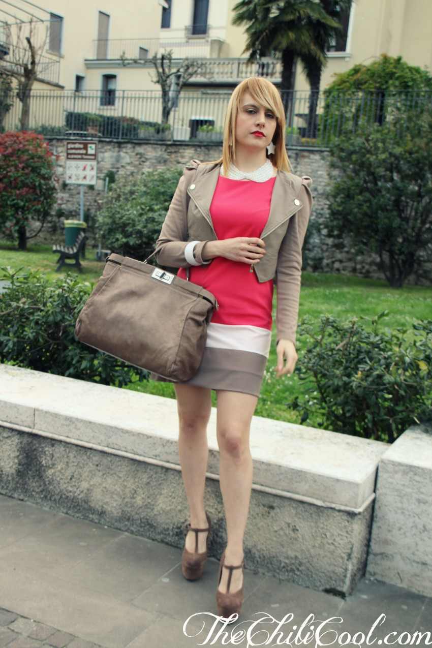 alessia milanese, thechilicool, fashion blog, fashion blogger,rosso bonton con bianco e taupe