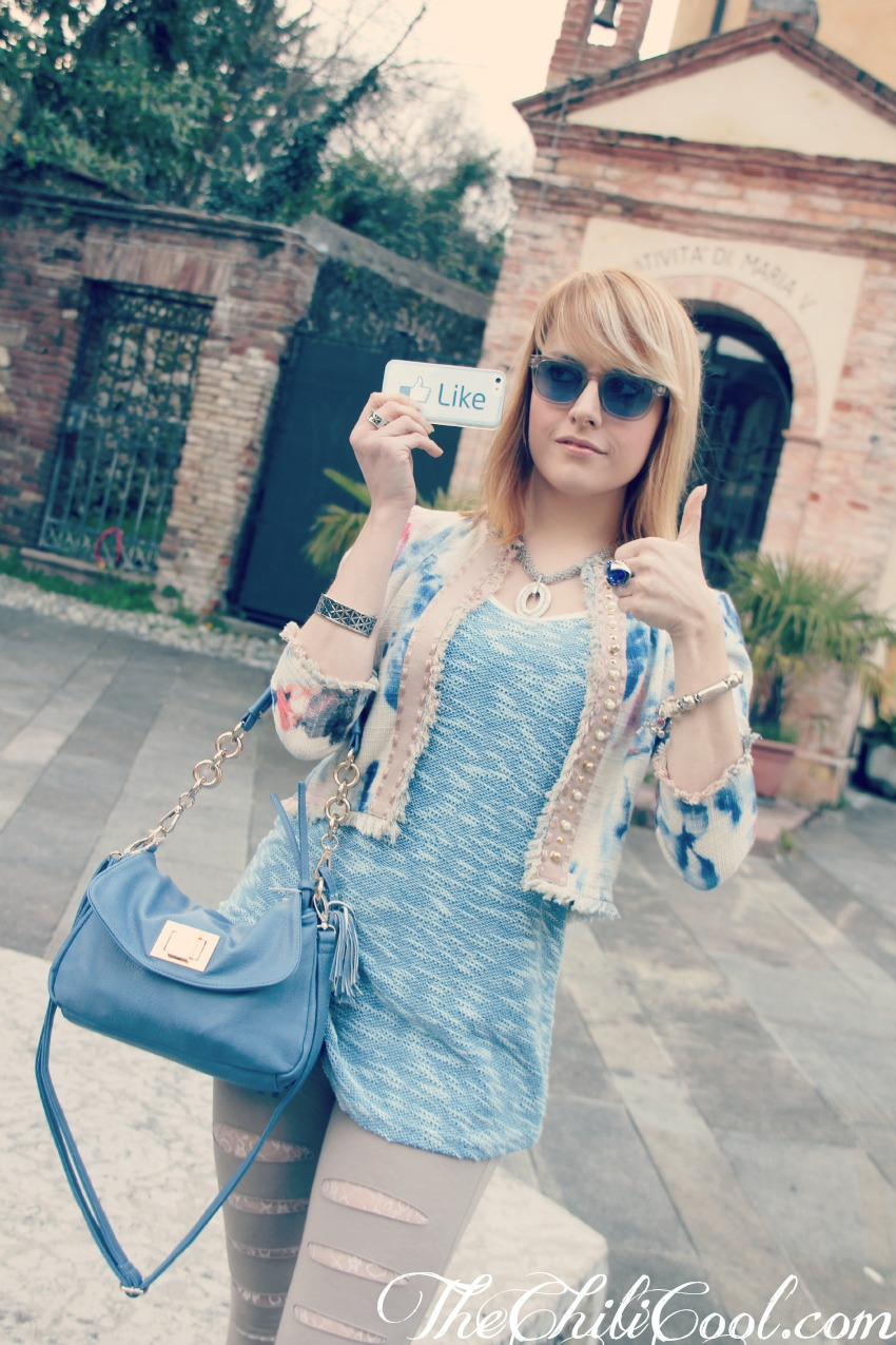alessia milanese, thechilicool, fashion blog, fashion blogger,note di stile con il colore del cielo ed il beige, sandali andrea morelli