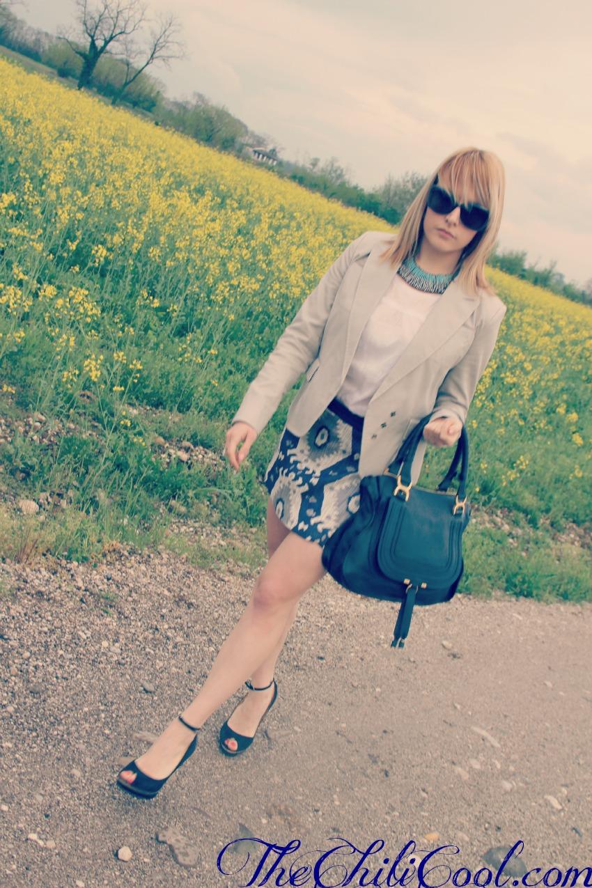 alessia milanese, thechilicool, fashion blog, fashion blogger,quando il grigio si fonde con il bianco ed il blu, marcie bag chloe