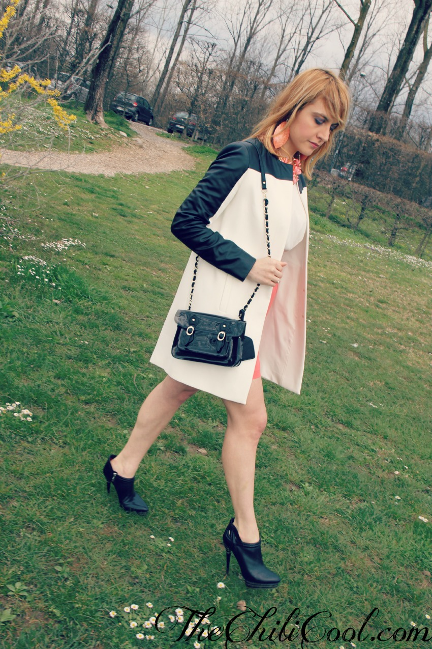 alessia milanese, thechilicool, fashion blog, fashion blogger,armonia di b&w e corallo, cesare paciotti shoes
