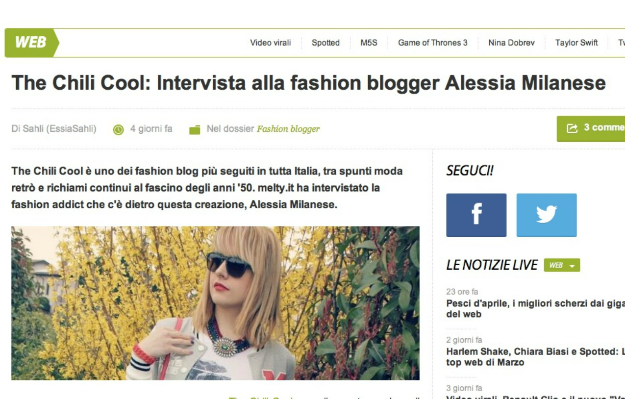 alessia milanese, thechilicool, fashion blog, fashion blogger,press update la mia video intervista per bonsai tv e l'intervista per melty.it, nintendo new style boutique