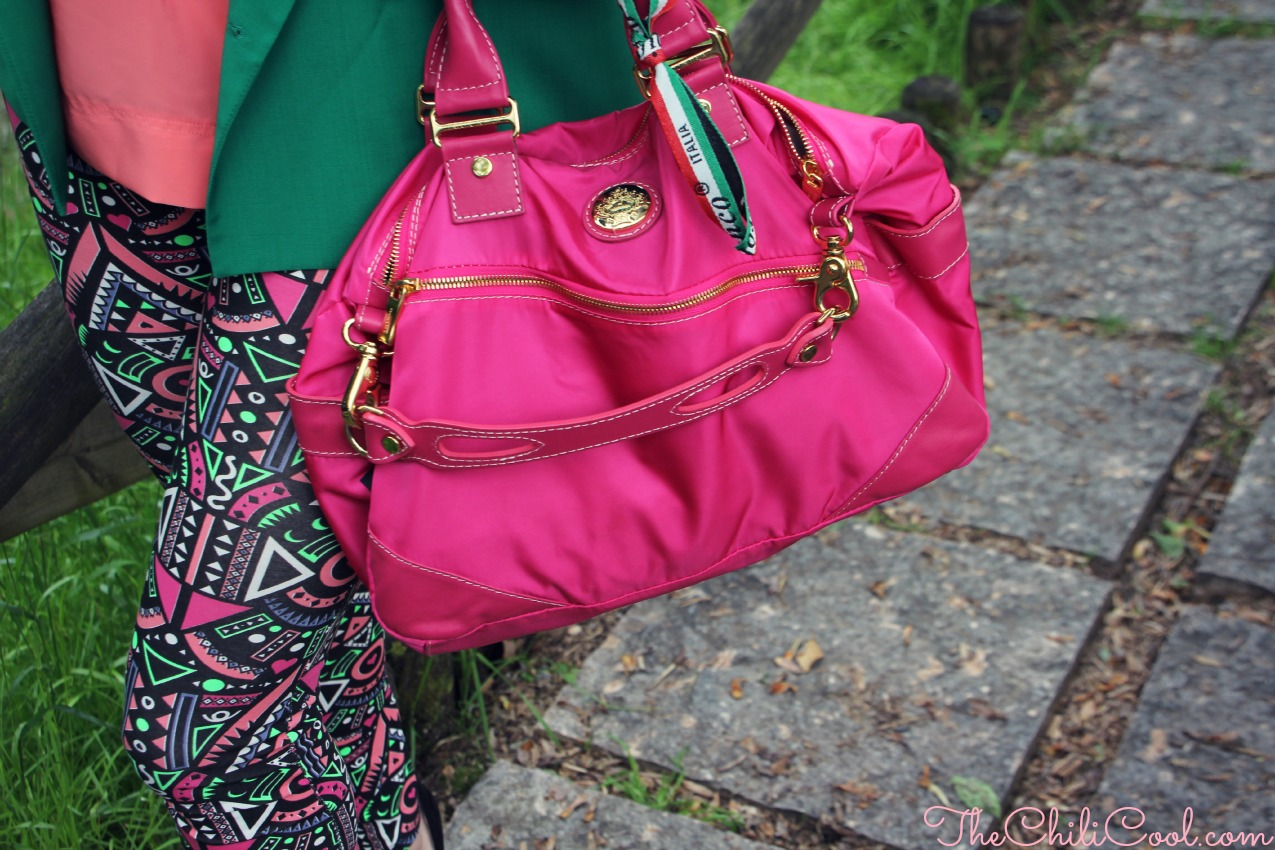 alessia milanese, thechilicool, fashion blog, fashion blogger,una piccola oasi tropicale tra verde, rosa salmone e fucsia