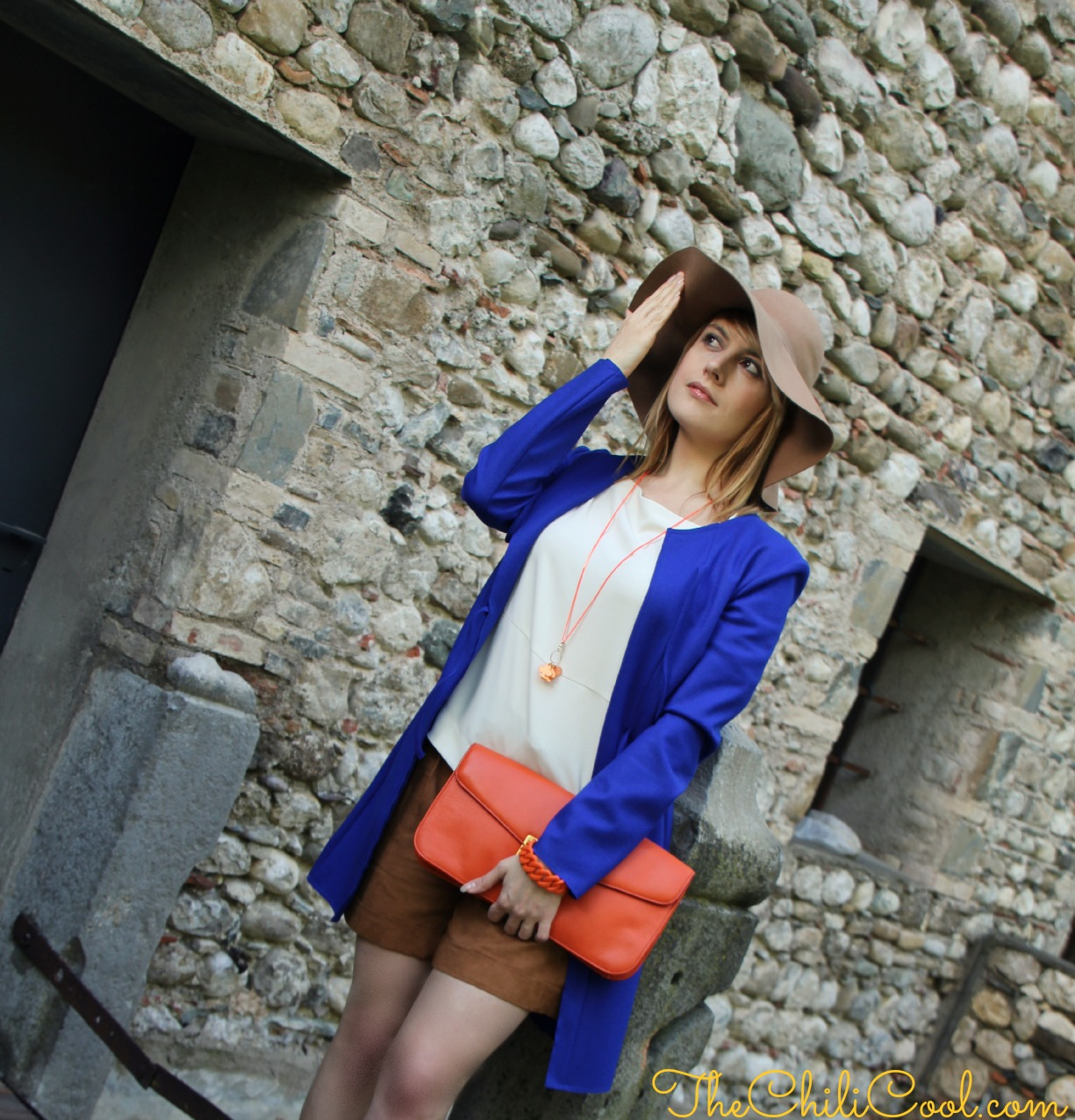 alessia milanese, thechilicool, fashion blog, fashion blogger,mood pop tra arancio e royal blue, marc by marc jacobs bag
