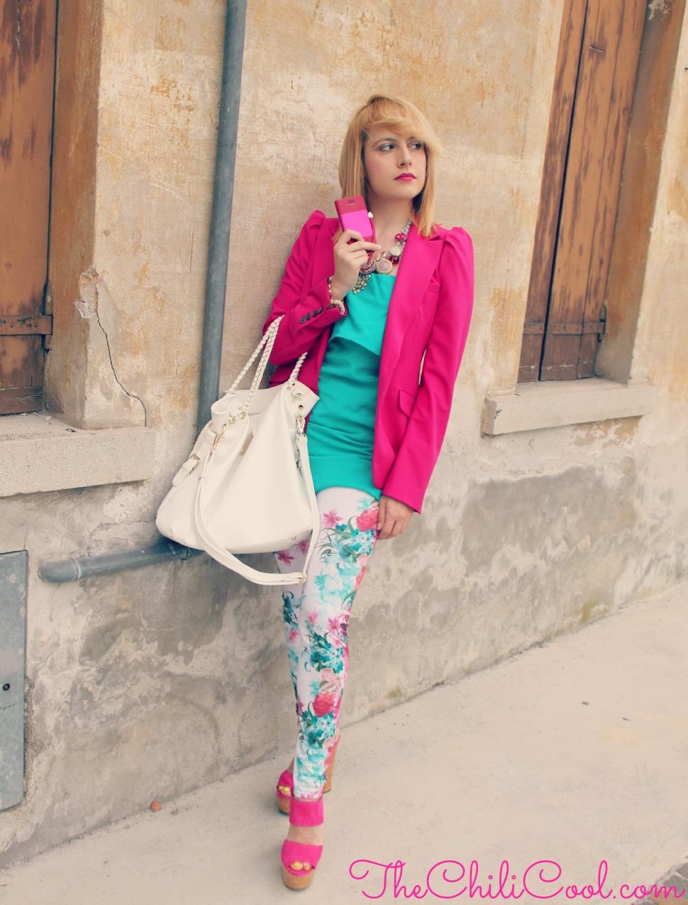 alessia milanese, thechilicool, fashion blog, fashion blogger,petali di fiori su tela fucsia quando la primavera lascia il posto all'estate