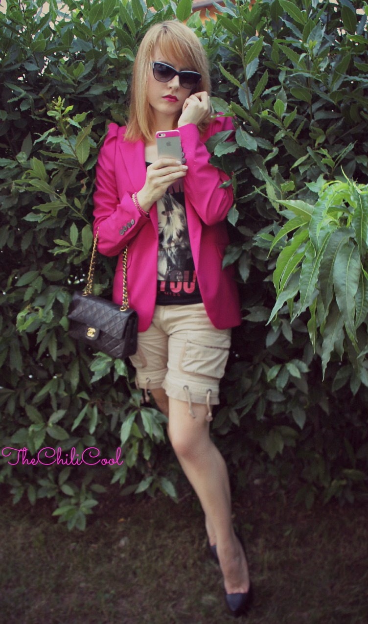 alessia milanese, thechilicool, fashion blog, fashion blogger,casual con un twist rock e una tee firmata rum jungle, chanel 2.55 bag