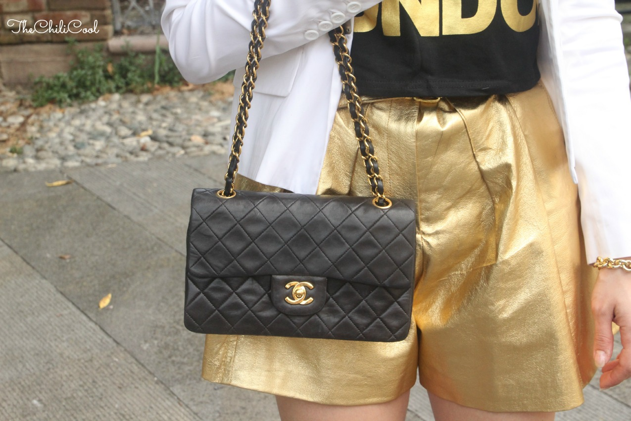 alessia milanese, thechilicool, fashion blog, fashion blogger,tra nero e oro per un'eleganza timeless con un twist moderno, chanel 2.55 bag
