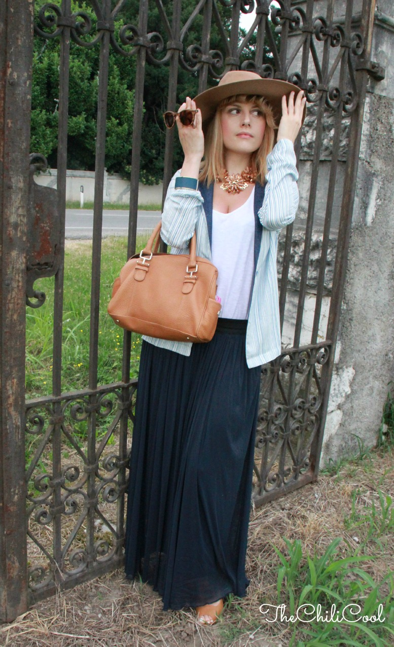 alessia milanese, thechilicool, fashion blog, fashion blogger,una gitana glam e le righe a modo mio, pennyblack bag
