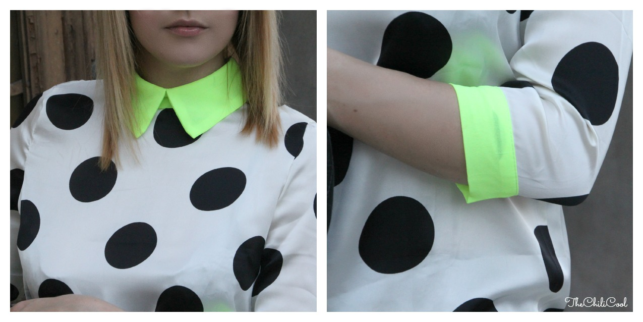 alessia milanese, thechilicool, fashion blog, fashion blogger,polka dots e contaminazioni neon