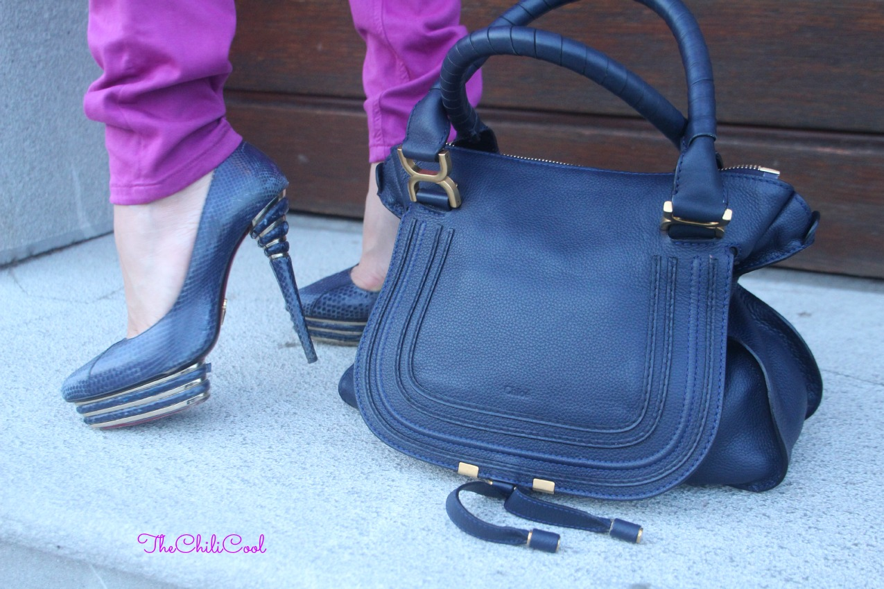 alessia milanese, thechilicool, fashion blog, fashion blogger,jeggings viola ed una collana preziosa , marcie bag chloe