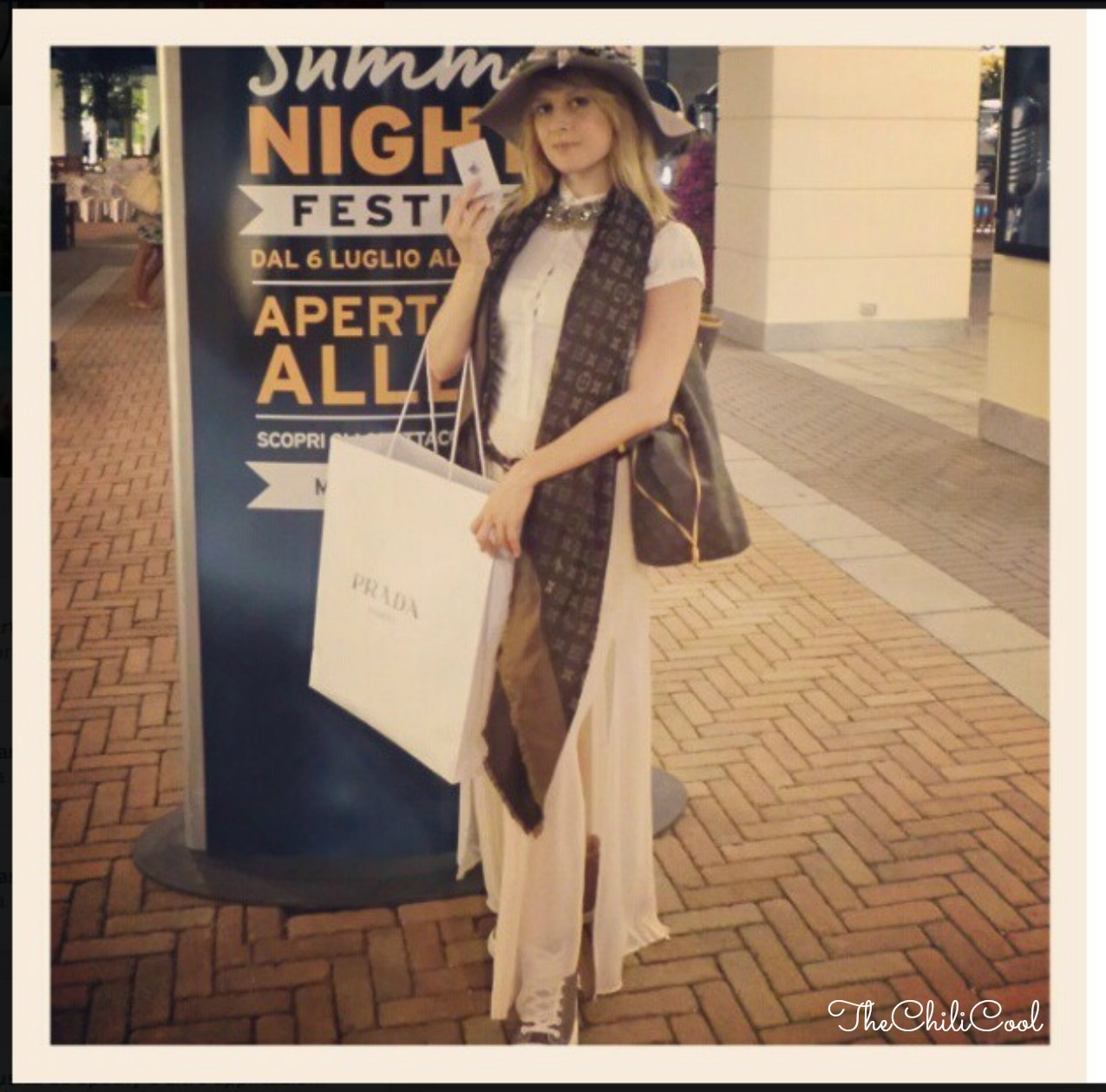 alessia milanese, thechilicool, fashion blog, fashion blogger,summer music festival @ noventa designer outlet il mio racconto, neverfull bag louis vuitton