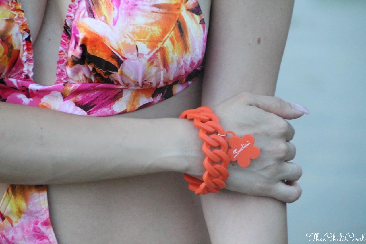 alessia milanese, thechilicool, fashion blog, fashion blogger,un trikini con i colori del sole al tramonto