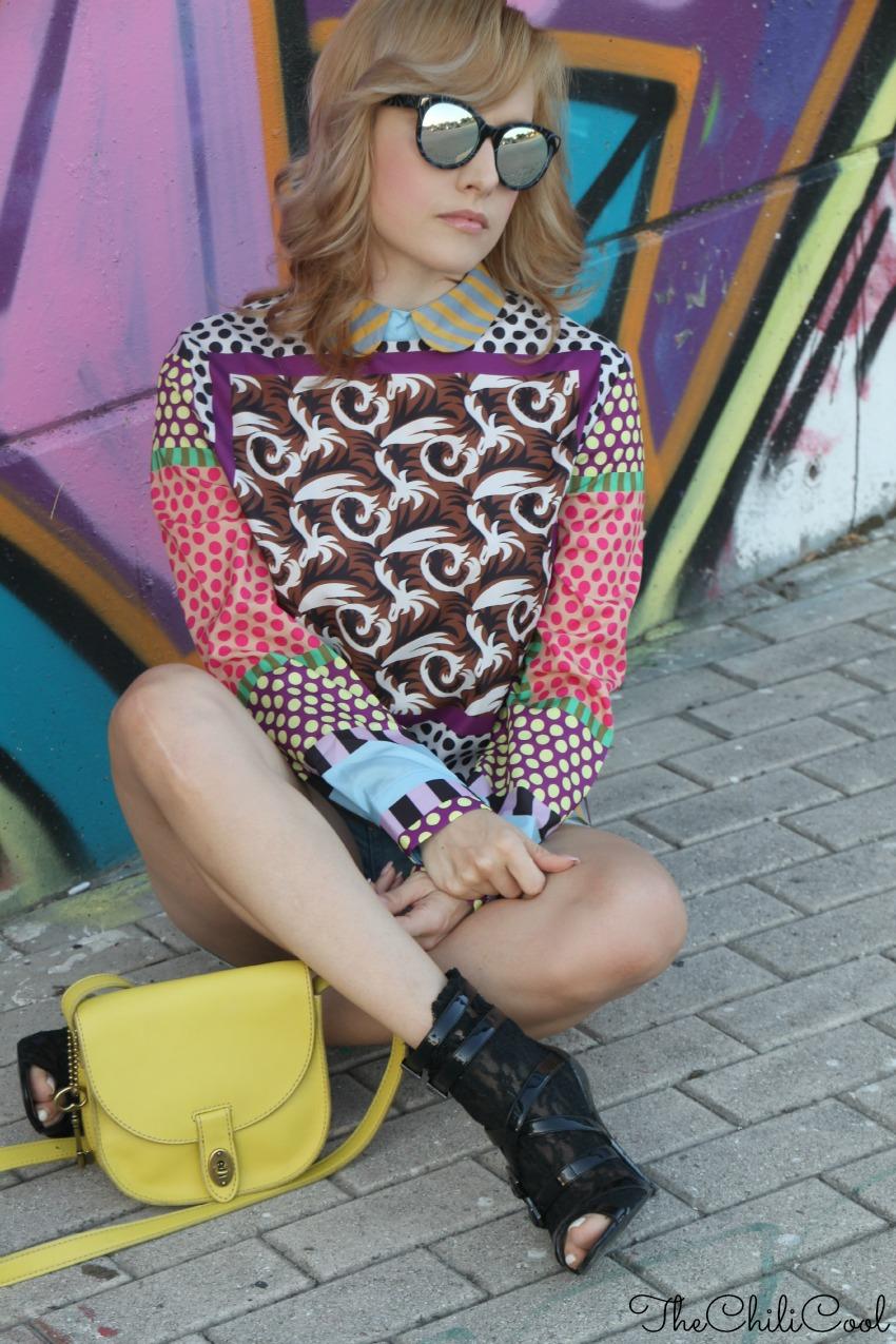 alessia milanese, thechilicool, fashion blog, fashion blogger,urban metropolitano ed una blusa a fantasia
