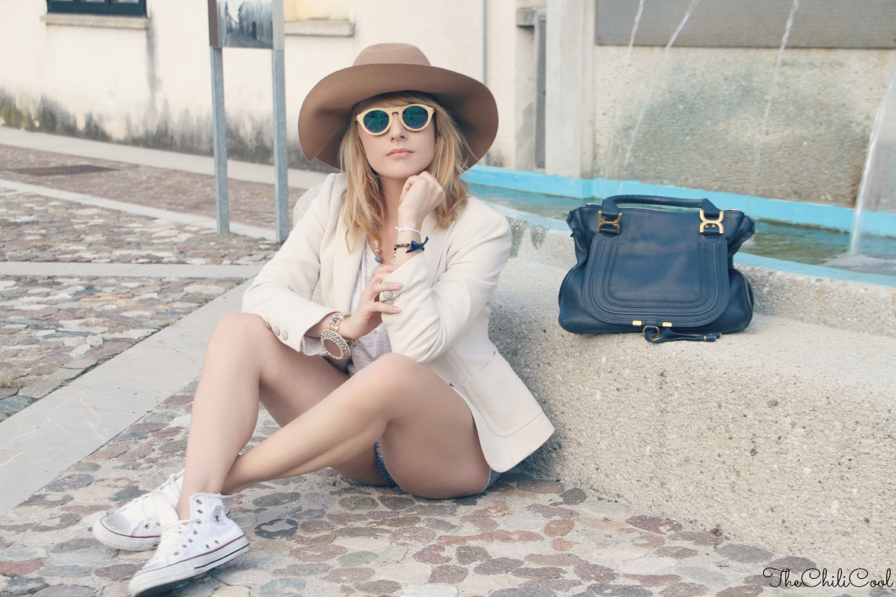 alessia milanese, thechilicool, fashion blog, fashion blogger, back to basics con shorts a righe e sunglasses in bambù, marcie chloe bag