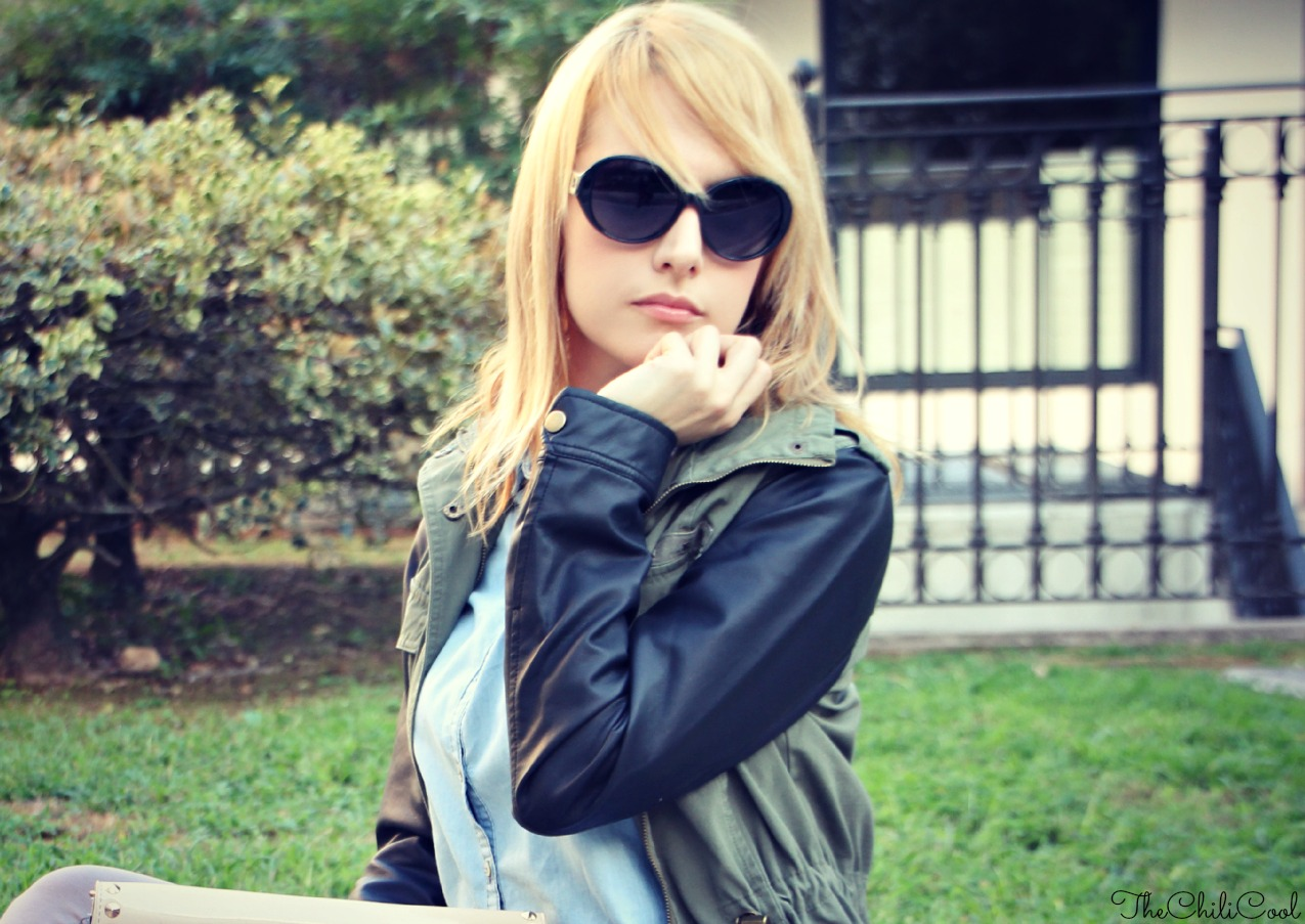 alessia milanese, thechilicool, fashion blog, fashion blogger, Taste of autumn - un parka, una denim shirt ed il gioco è fatto bonprix parka