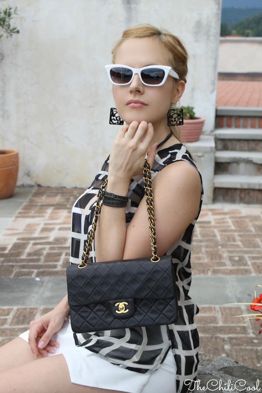 alessia milanese, thechilicool, fashion blog, fashion blogger,tutto e niente. buio e luce. nero e bianco., chanel 2.55 bag