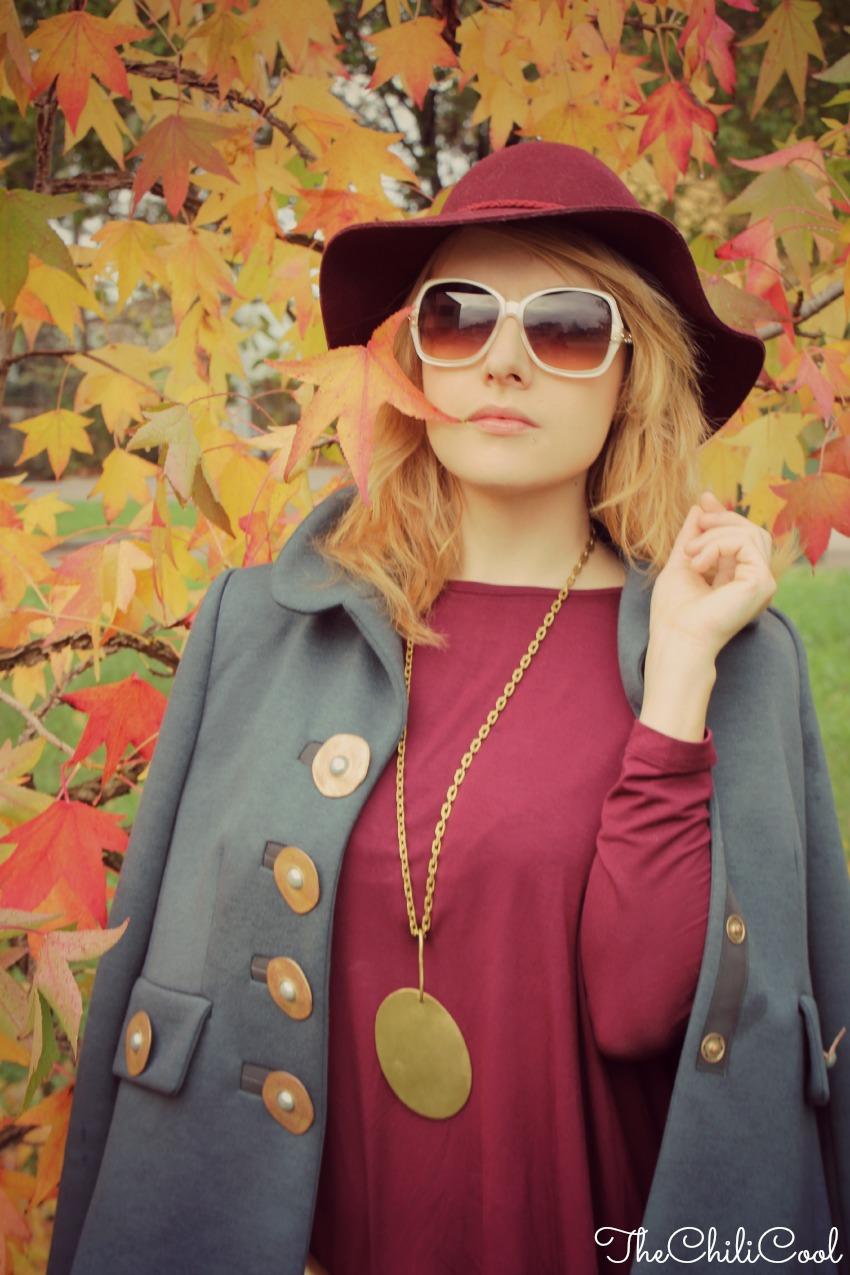 alessia milanese, thechilicool, fashion blog, fashion blogger,burgundy e le foglie che cadono