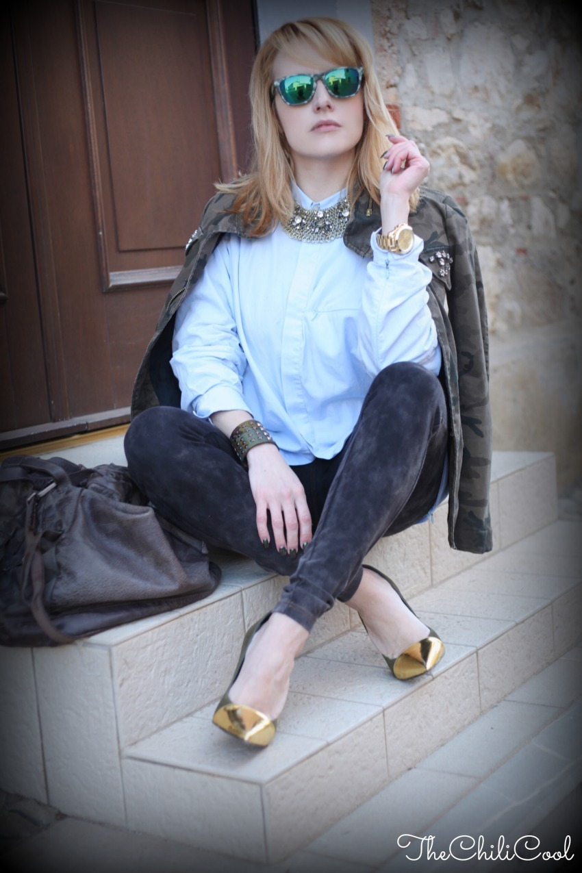 alessia milanese, thechilicool, fashion blog, fashion blogger, camo + gold