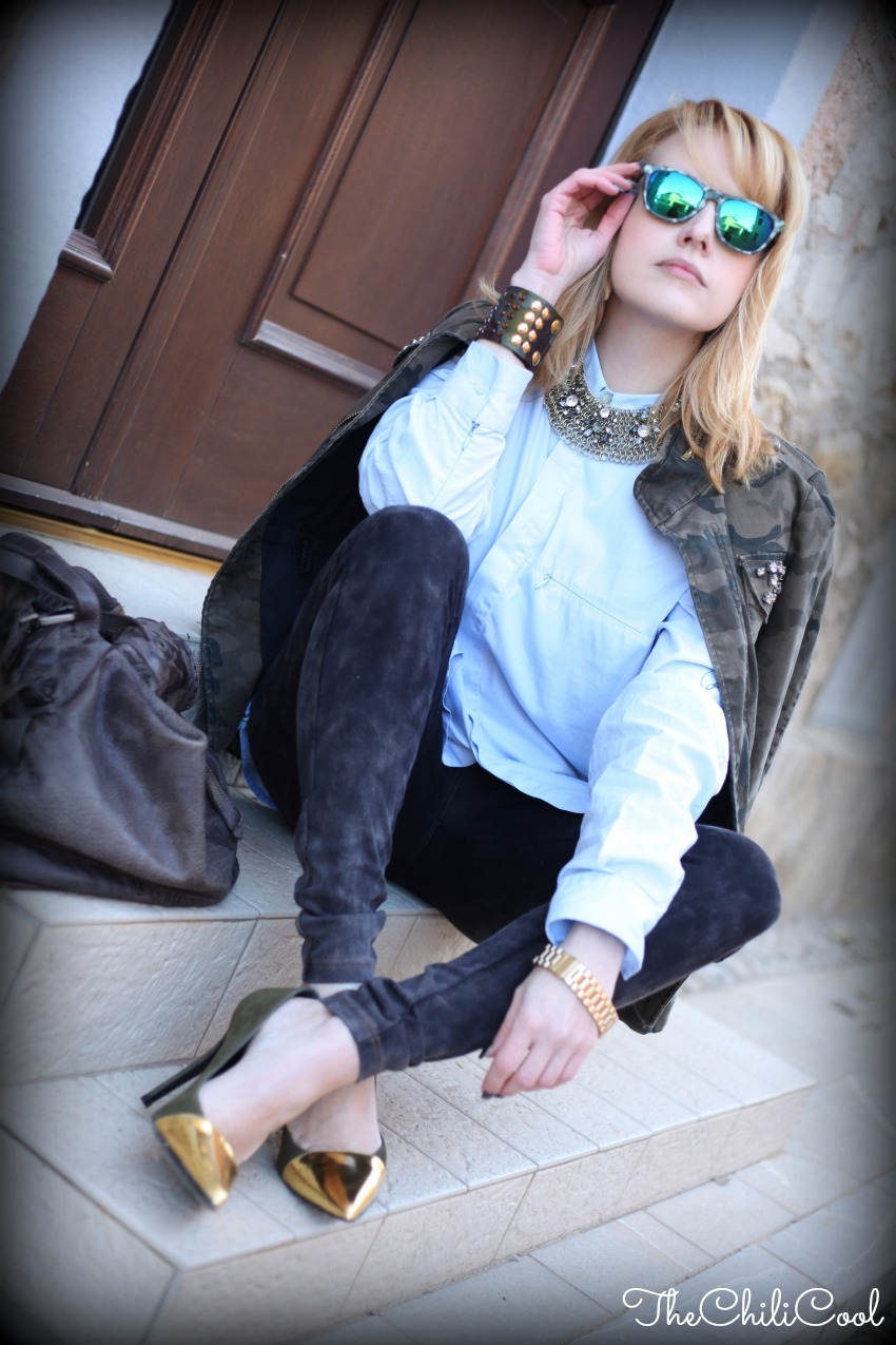 alessia milanese, thechilicool, fashion blog, fashion blogger, camo + gold