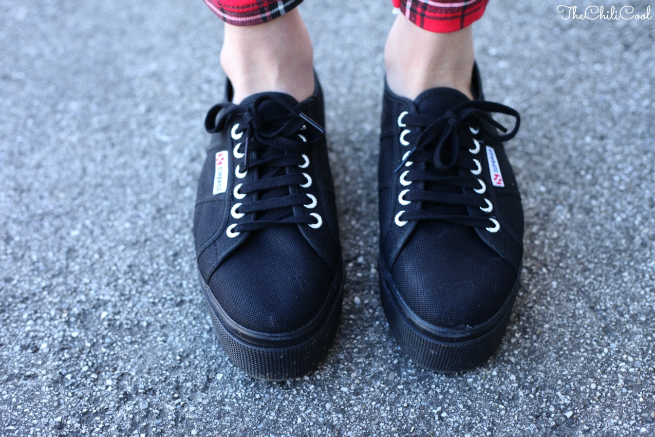 SUPERGABIZZARIA 02 Tartan & Superga flatforms
