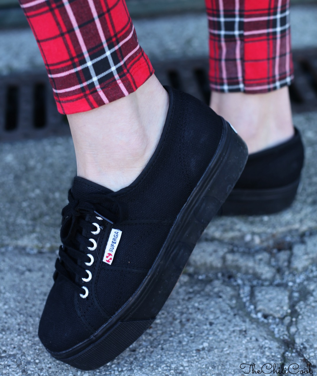 SUPERGABIZZARIA 05 Tartan & Superga flatforms