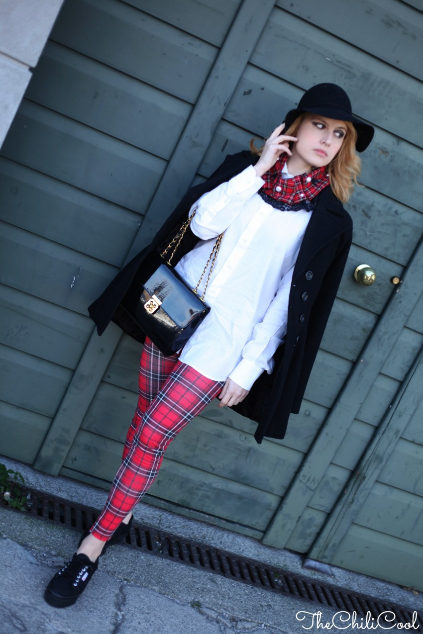 alessia milanese, thechilicool, fashion blog, fashion blogger,tartan & superga flatforms, bizzaria jewels couture