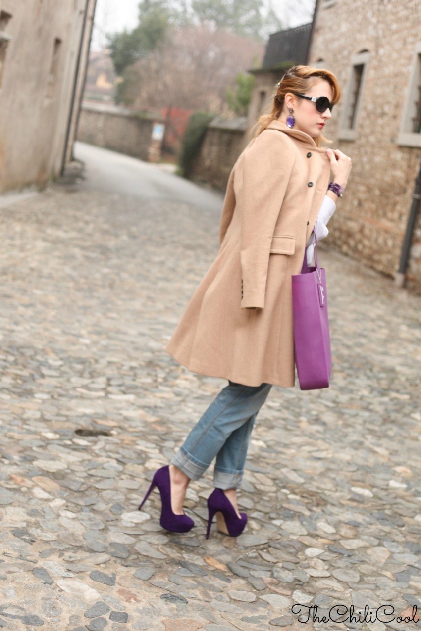 alessia milanese, thechilicool, fashion blog, fashion blogger,when camel meets purple