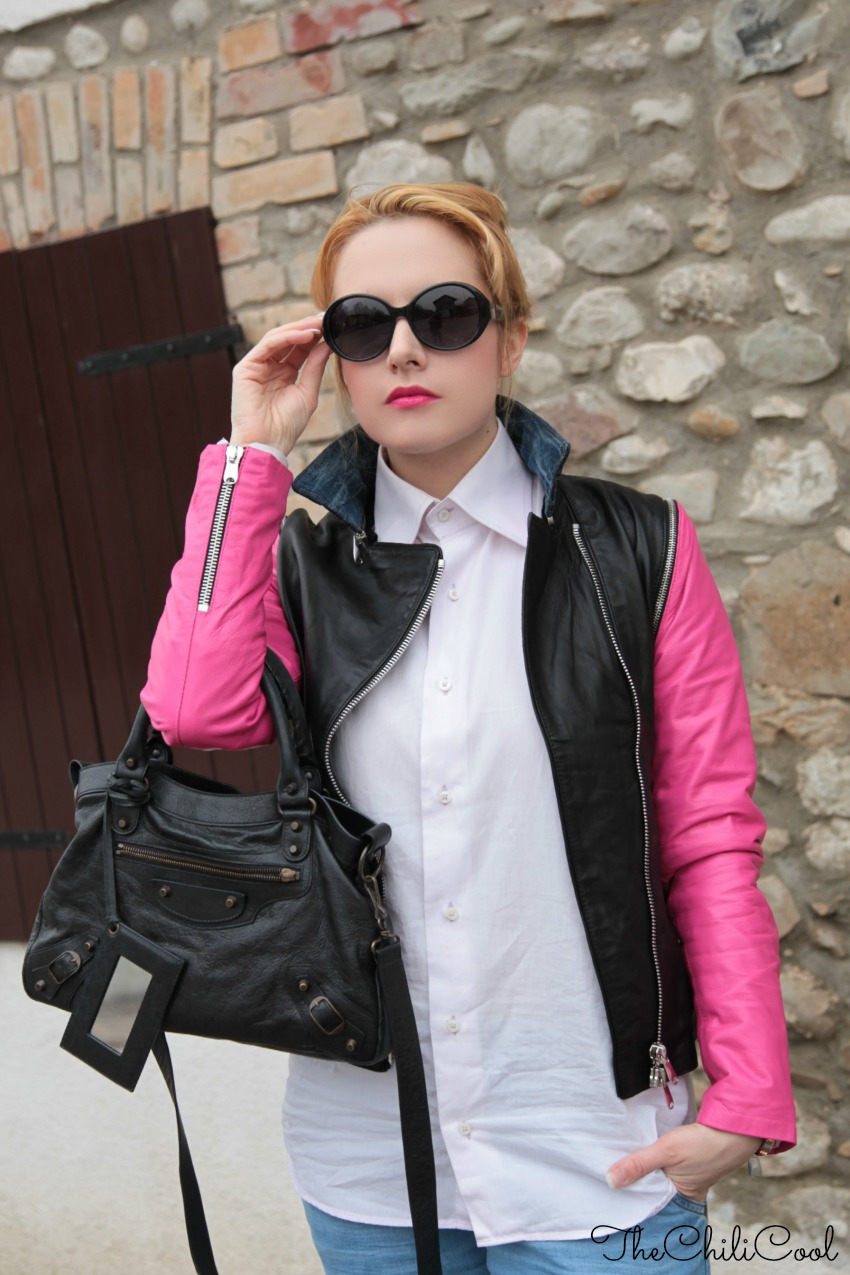 alessia milanese, thechilicool, fashion blog, fashion blogger,j double jacket the refill jacket, balenciaga bag