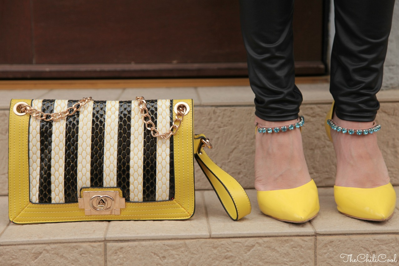 alessia milanese, thechilicool, fashion blog, fashion blogger,yellow on black
